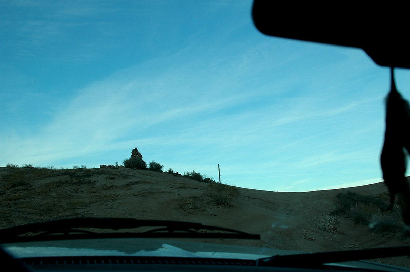 Approaching Mengel Pass. Goler Wash was a little rough in places, but no problem.