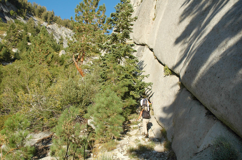 Cori knew of a different route up the Ebersbacher Ledges. We started on them sooner than the route I've used before.