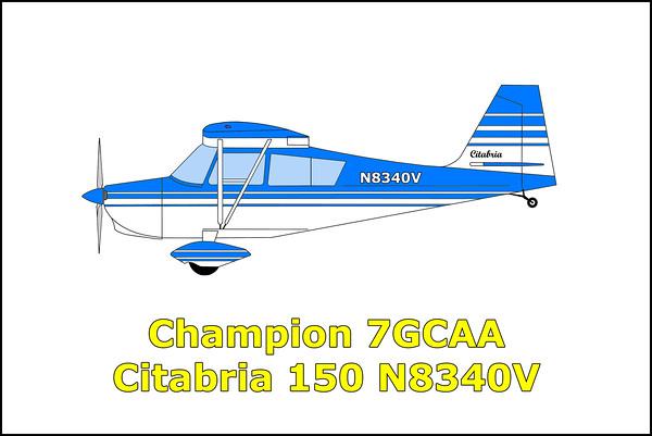 Champion 7GCAA Citabria N8340V 4/12/15