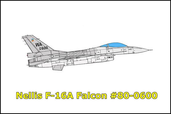 Nellis F-16A Fighting Falcon #80-0600 3/30/12