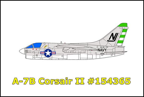 A-7B Corsair II #154365 1/14/12