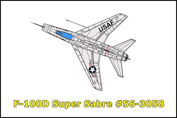 F-100D Super Sabre #56-3058 1/26/14