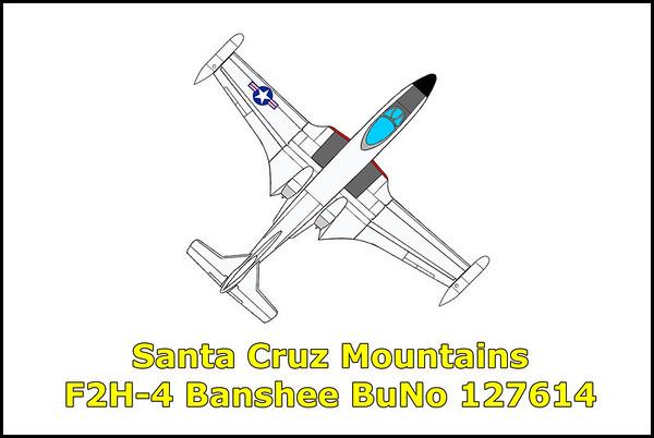 Santa Cruz Mountains F2H-4 Banshee #127614 7/2/11