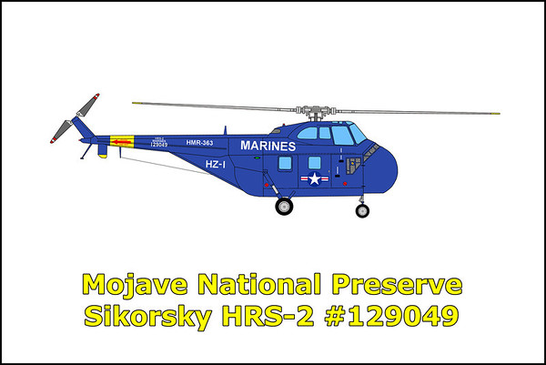 Mojave National Preserve Sikorsky HRS-2 #129049 9/26/12