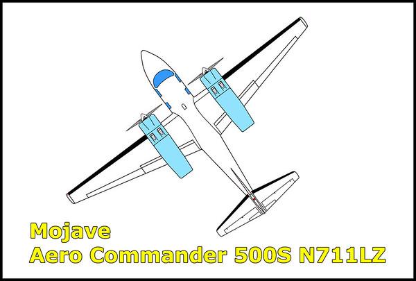 Mojave Aero Commander 500S N711LZ 11/27/14