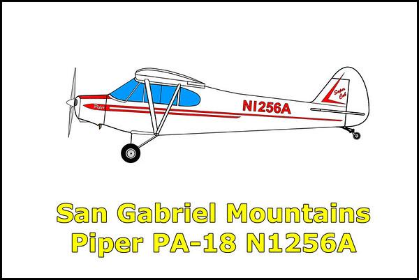 San Gabriel Mountains Piper PA-18 N1256A 6/15/13