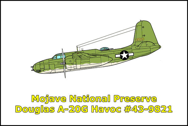 Mojave Nat'l Preserve A-20G Havoc #43-9821 6/17/11