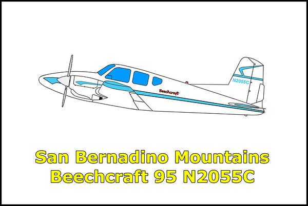 San Bernardino Mountains Beechcraft 95 Travelaire N2055C 8/24/12
