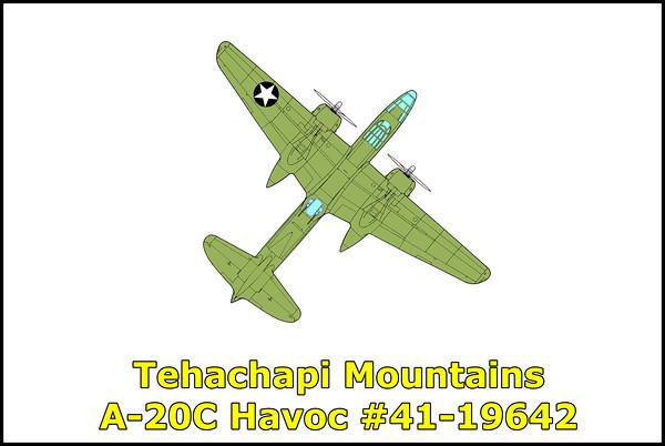 Tehachapi Mountain, A-20C Havoc #41-19642 6/3/11